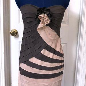 Arden B. Strapless Layered Dress - Medium